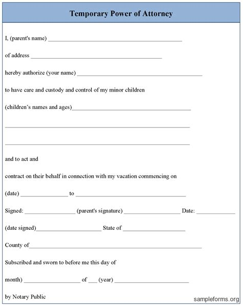 powered template power of attorney template cyberuse