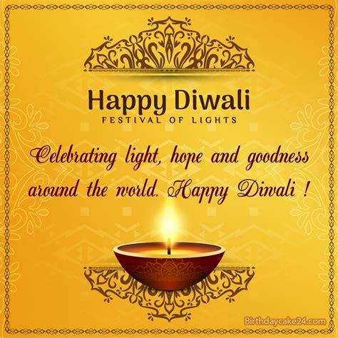 golden happy diwali card   wishes   happy
