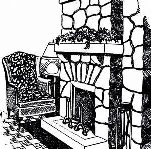 Vintage, Stone, Fireplace, Image