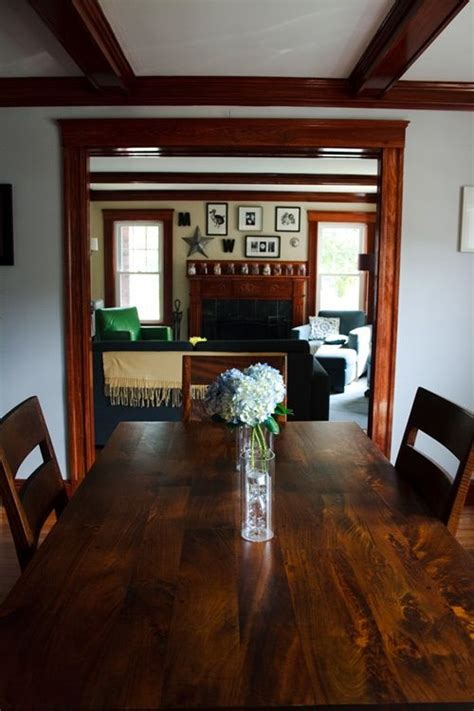 decorating with wood trim stains wood trim and dark brown