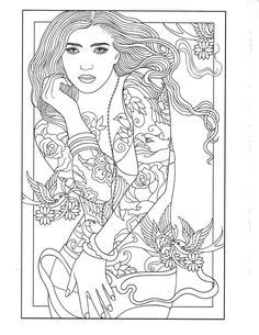 98 Body Art Tattoo Coloring Pages for Adults ideas