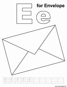 e for envelope alphabet s freecc85 coloring pages printable With letter sheets and envelopes
