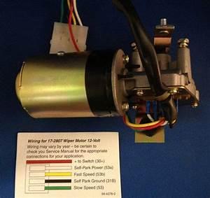 Windshield Wiper Motor  12 Volt Vw Beetle Standard 1969