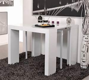 Table Console Extensible Algo Blanc