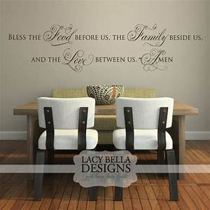 Quotbless the food before us the family beside us and the for Biblical wall decals ideas
