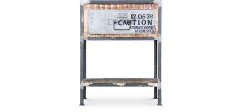 table chaises de cuisine pas cher table de chevet vintage industriel acier et bois pas cher