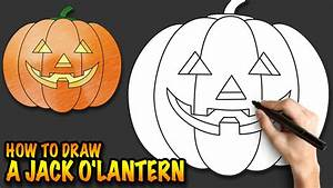 How To Draw A Jack Ou002639lantern A Halloween Pumpkin Easy