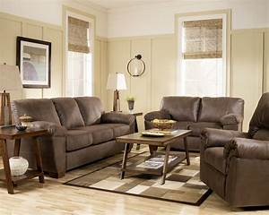 amazon walnut living room set from ashley 67505 With living room furniture walnut wood