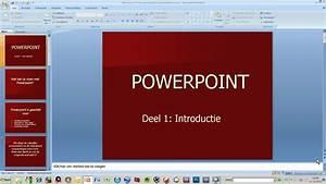 Cursus Powerpoint Deel 1  Introduktie