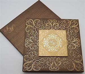 Gold laser cut wedding invitations muslim wedding cards for Laser cut wedding invitations islamic