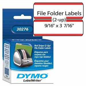 dymo 30276 file folder labels 2 up w red stripe free With file label printer