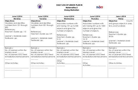 K To 12 Grade 2 Dll Mathematics (q1