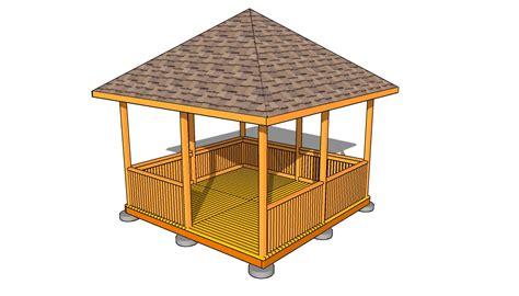 rectangular gazebo plans myoutdoorplans  woodworking plans  projects diy shed