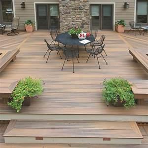 Lame De Bois Pour Terrasse : terrasse en bois composite lame fiberon horizon decklinea ~ Premium-room.com Idées de Décoration