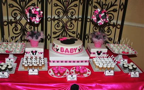 minnie mouse baby shower decorations sweet treats carousel