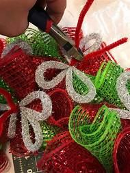 christmas deco mesh wreath - Christmas Mesh Wreath Ideas
