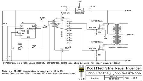 Sinusoidal Inverter Circuit Diagram Images