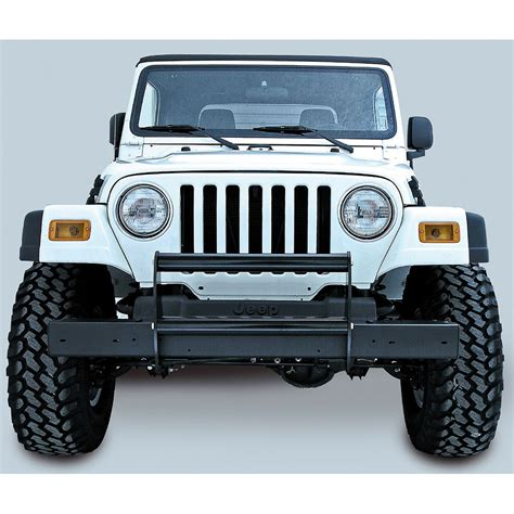jeep bumper grill 391151102 brush guard gloss black 97 06 wranglers