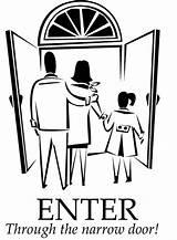 Narrow Door Gate Bible Luke Coloring Wide Children Enter Preschool Through Many Gates Parable Jesus Effort Every Sermons4kids Focus Ministry sketch template