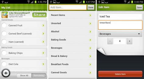grocery app android best grocery list apps for android