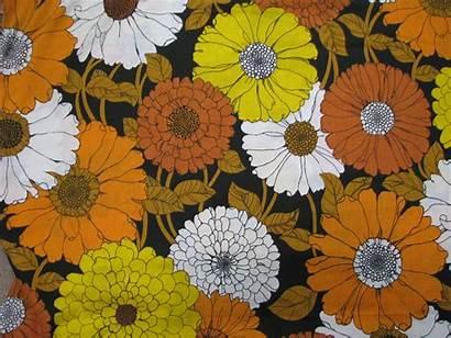 Floral Flower Power Mod 70s Fabric Retro