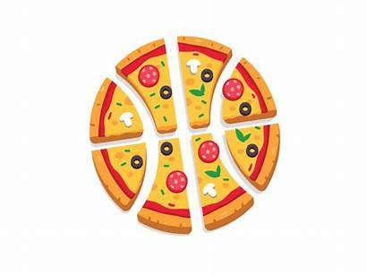 Pizza Basket Clipart Animated Dribbble Cartoon Slice