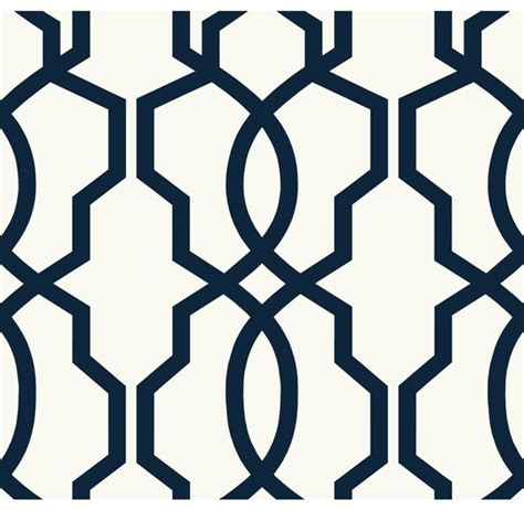 Modern Bathroom Rugs Uk by Geometric Hourglass Trellis Wallpaper Navy