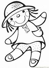 Doll Coloring Pages Print Animal sketch template
