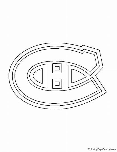 Nhl Coloring Montreal Canadiens Knights Golden Vancouver
