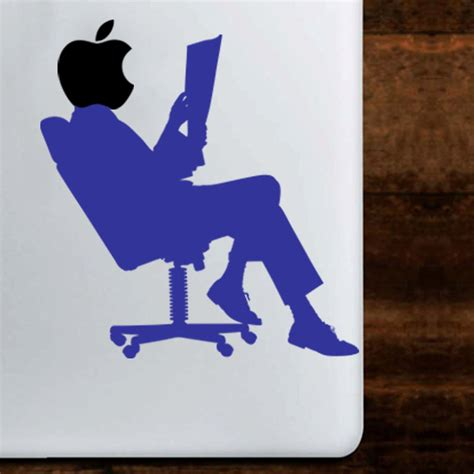 sticker bureau sticker silhouette sur une chaise de bureau mini