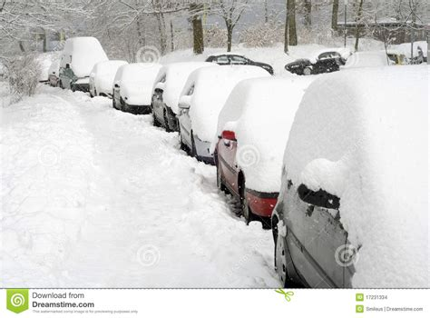Covered Car by Row Of Cars Covered In Snow Stock Photo Image Of Covered