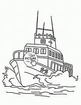 Coloring Boat Speed Transportation Drawing Wuppsy Speedboat Minnie Daisy Printables Mouse Duck Truck Fire Trucks Getdrawings Printable Boats Ausmalbilder Feuerwehr sketch template