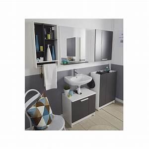 Meuble Sous Lavabo But : meuble sous lavabo verzak 59cm gris ~ Dode.kayakingforconservation.com Idées de Décoration