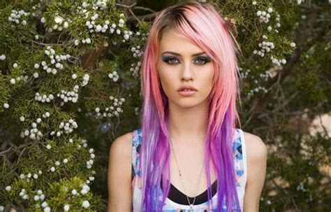 Charlotte Free Purple Tips Hair Colors Ideas