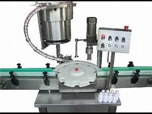 single head eye drops bottles screw capping machinery ...