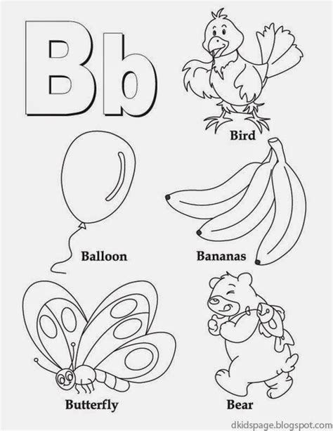 letter b activities letter b coloring worksheet page alphabet letters for 47720