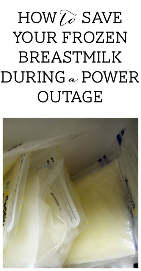 save  frozen breastmilk   power outage