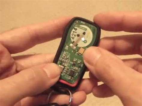 changing key fob remote battery  nissan quest