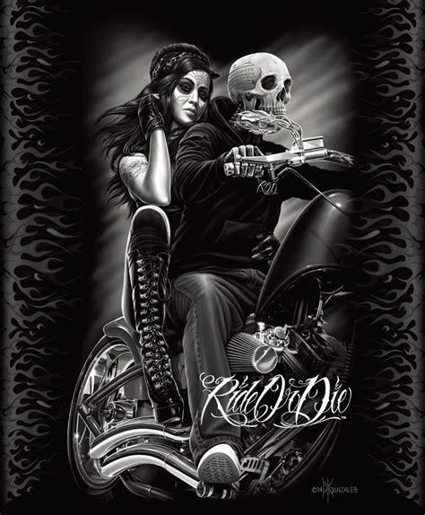 dga ride or die biker babe queen blanket warm soft plush mink motorcycle skull ebay