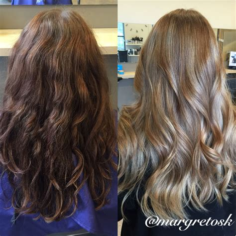 Before And After Coloring From Dark Brown To A Softer