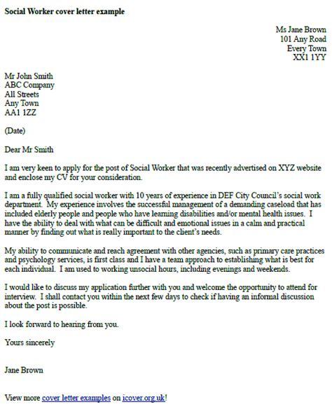social worker cover letter exle cover letter exles