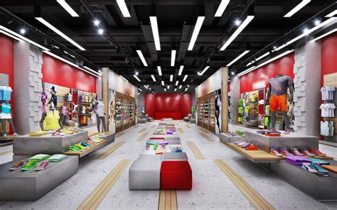 retail latest design   sports shoes  clothing display boutique store design retail
