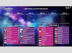 Eurovision 2016 semifinal allocation draw Which