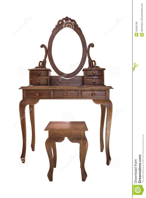 free modern house plans wood vanity table and chair stock photo image 34426798