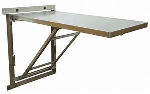 Wall-Mount Stainless Steel Veterinary Exam Tables Fold Up