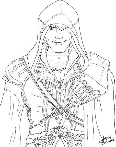 Lego Assasains Creed Free Coloring Pages