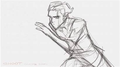 Animation Frames Hand Coming Reference Drawing Right
