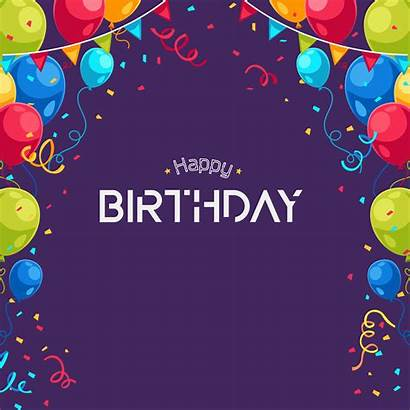 Birthday Happy Background Wallpapers Purple Violet Balloons