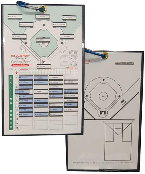 Coaches Magnetic Baseballsoftball Coaching Board A32