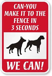 Clever Guard Dog Sign - Security Sign (Can You Make it to ...